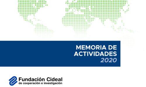 Presentamos nuestra Memoria de Actividades 2020