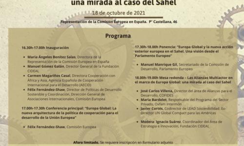 """Seminario """"Europa Global y Alianzas Multiactor: una mirada al caso del Sahel"""""""